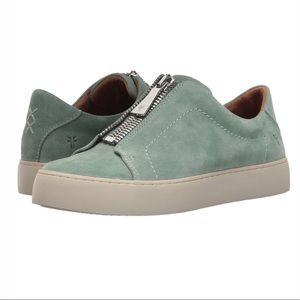 FRYE Women's Lena Zip Low Sneaker, Mint